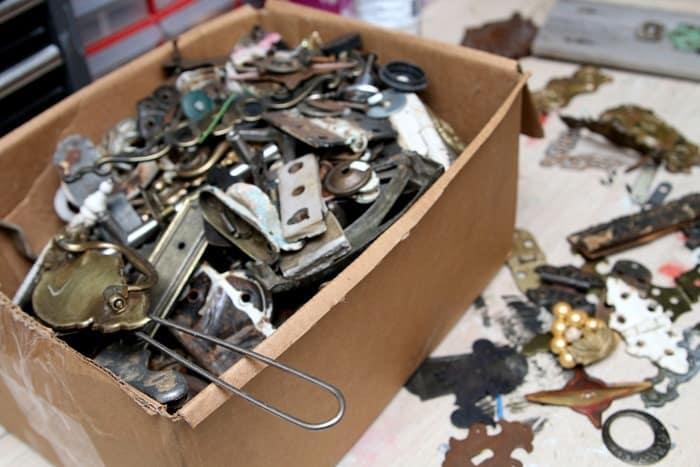 junky salvaged metal stuff