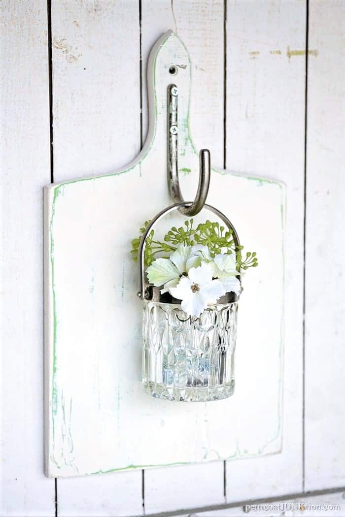 make a hanging wall vase from a glass bowl