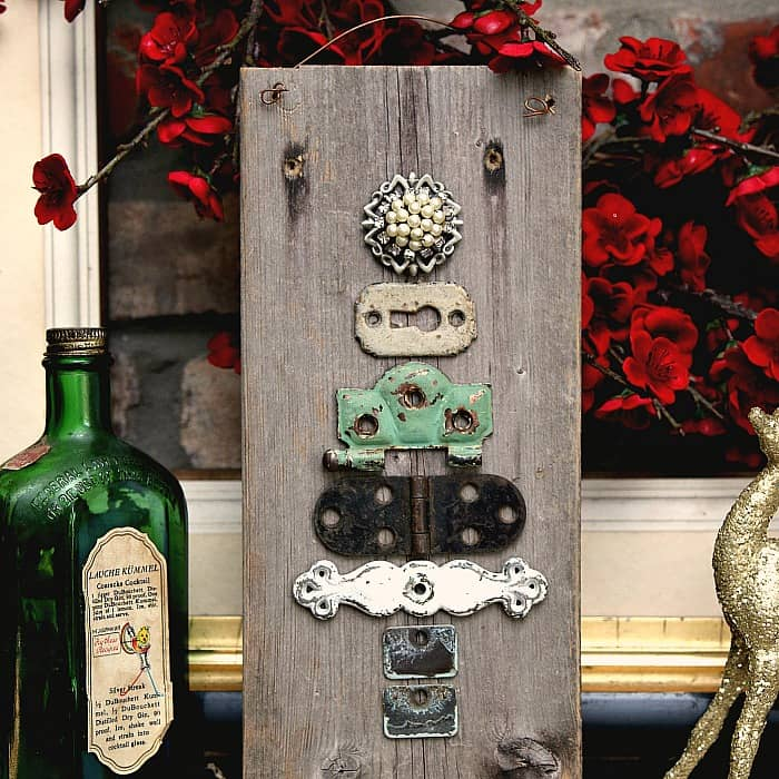 recycle and repurpose vintage hardware into a Christmas tree