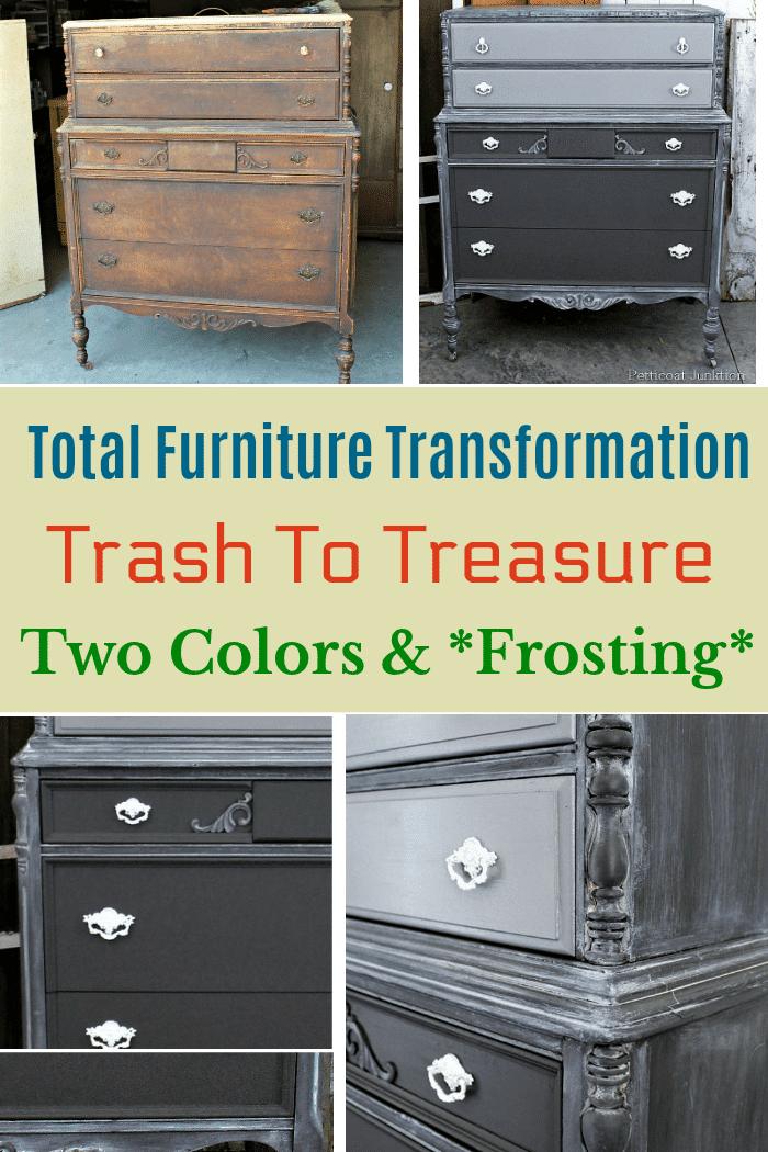 total trash to treasure furniture transformation