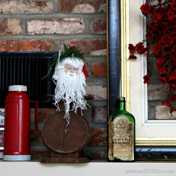 vintage mantel decorations