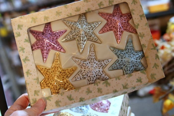 vintage star ornaments