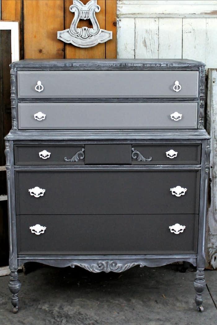vintage trash to treasure furniture makeover
