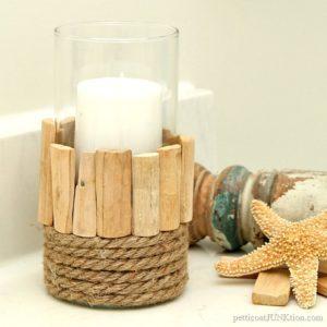 Nautical Style Candleholder Dollar Store Craft