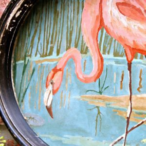 Vintage Paint By Number Pink Flamingo Gets A New Look