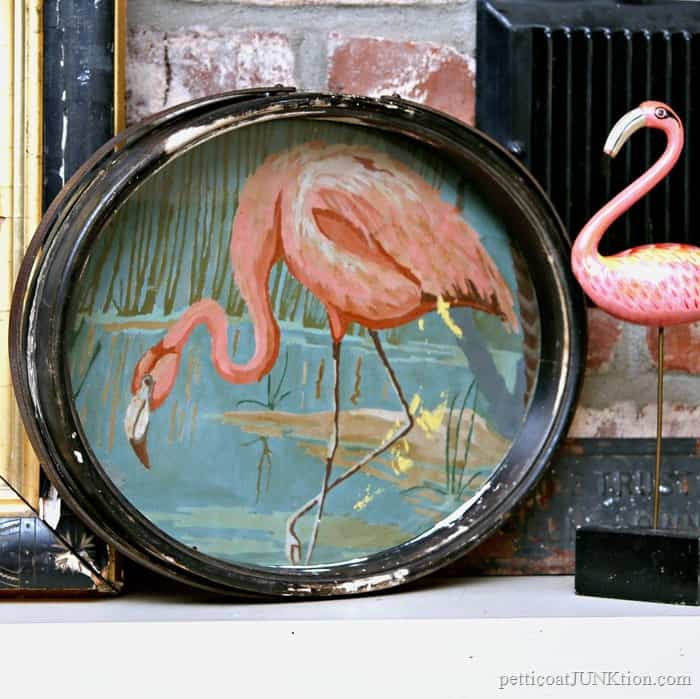 Vintage Paint By Number Pink Flamingo