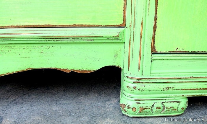 beautifully distressed painted furniture