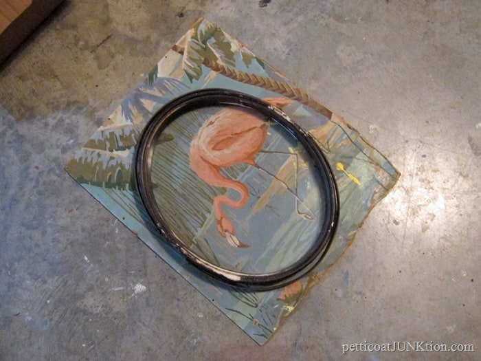framing vintage paint by number