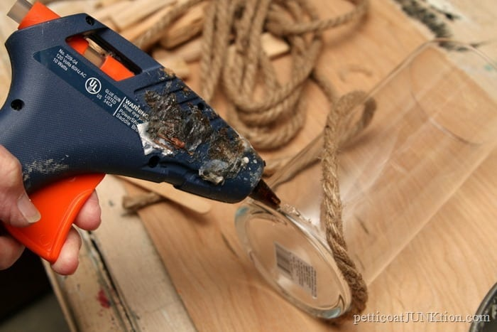 hot glue for nautical rope