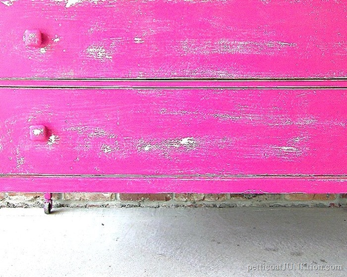 Hot Pink Furniture Distressed
