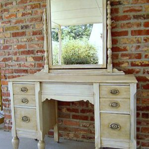 "Vintage dresser and mirror up-graded to ""UNDERSTATED ELEGANCE"""
