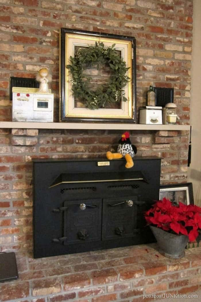 new mantel decor after Christmas