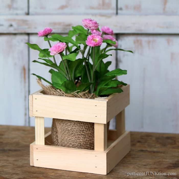 wood plant container