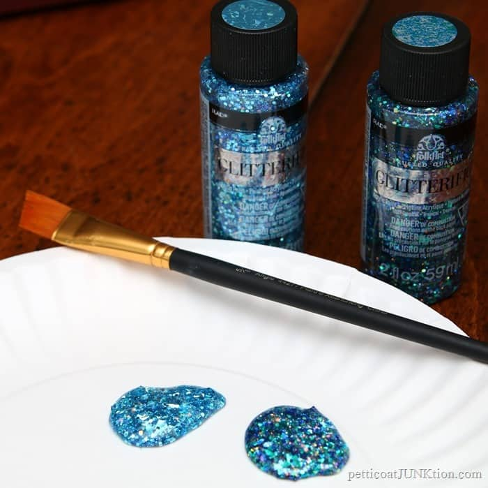 FolkArt Glitterific colors Aqua and Tropical