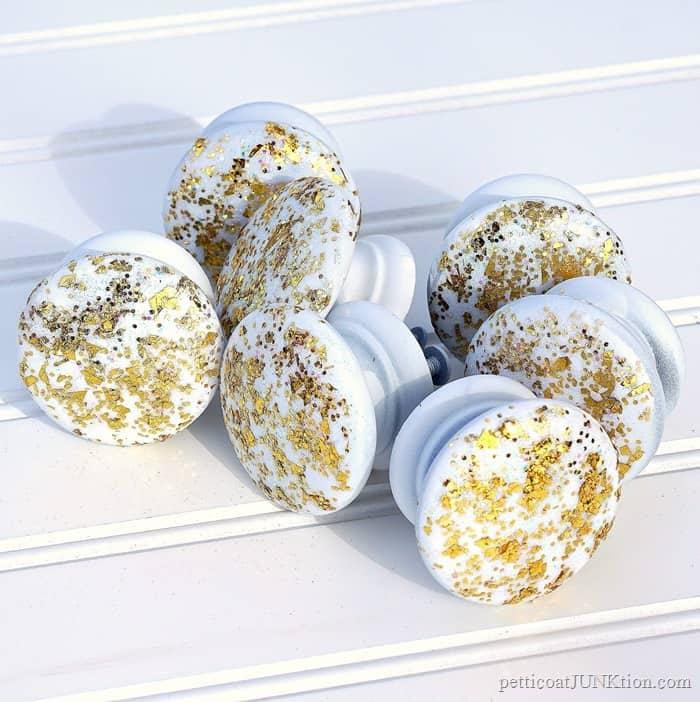 Gold Glitterific Knobs