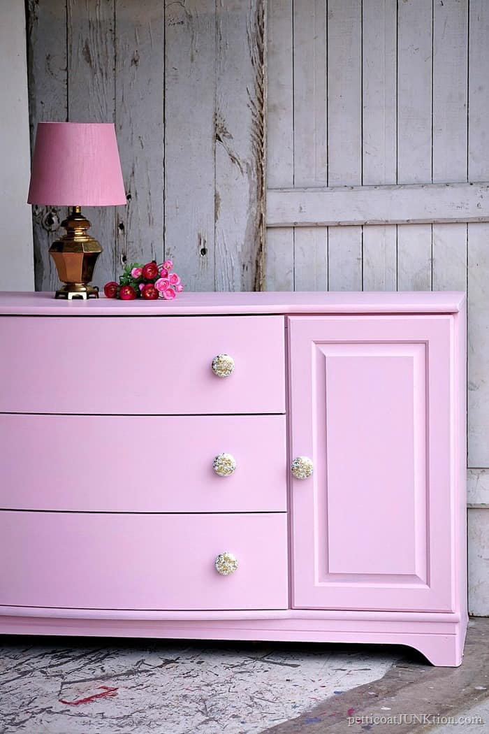 How To Make Glitter Knobs For Pretty Pink Furniture