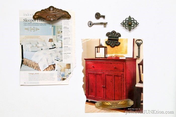 Make Antique Key Fridge Magnets