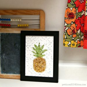 Pineapple Glitter Paint Project To Brighten Your Day