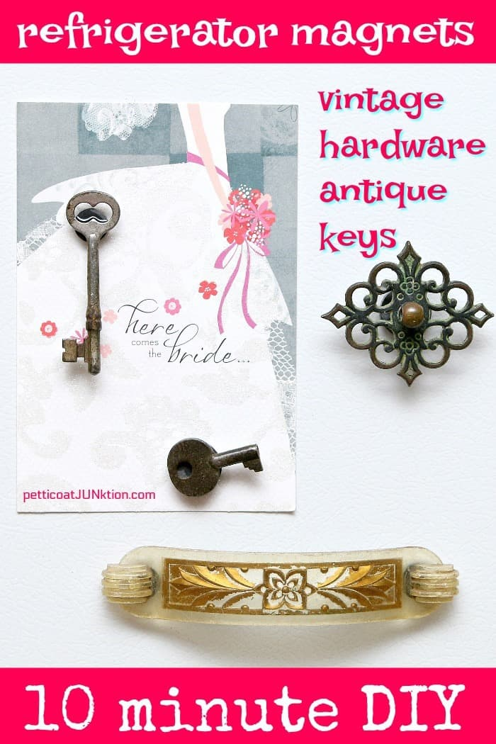diy antique keys and vintage hardware refrigerator magnets are a 10 minute diy