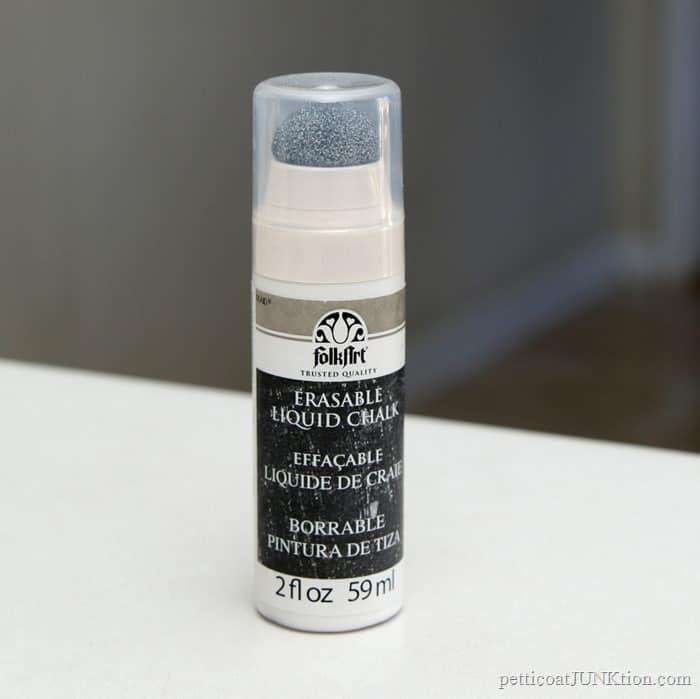 erasable liquid chalk from FolkArt