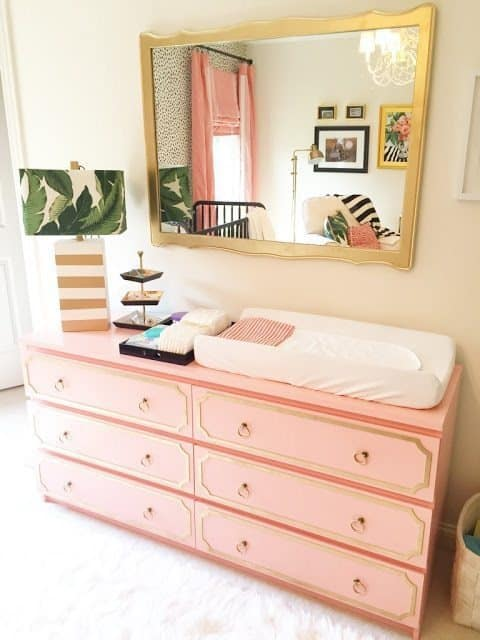 glam pad ikea-malm-hack-dorothy-draper-hollywood-regency-dresser-changing-table