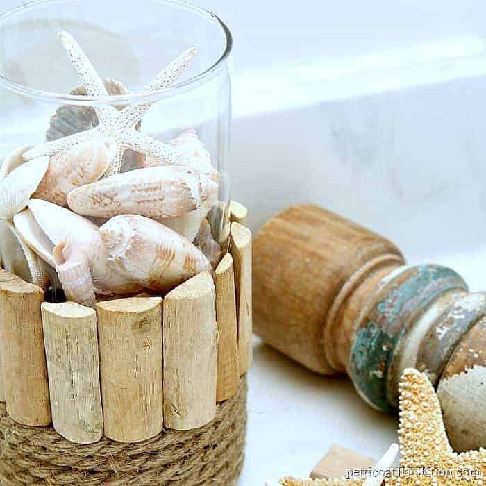 how to make a seashell display