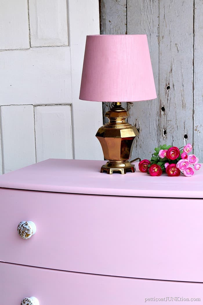 how to make glitter furniture knobs