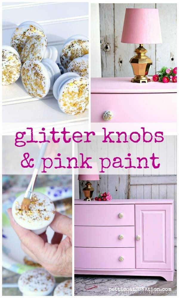 how to make glitter knobs for furniture and cabinets