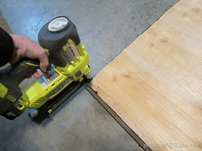 nail gun for nailing chalkboard back to frame