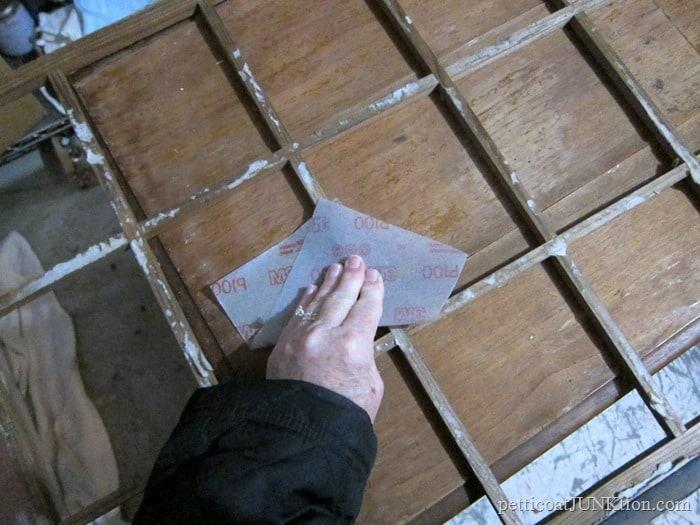 sanding paper from chalkboarde