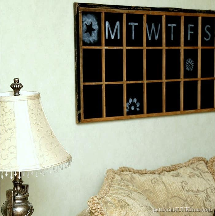 window chalkboard