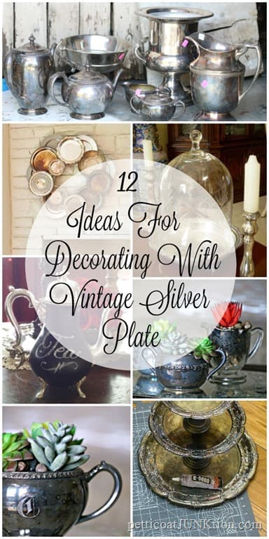 12 Silver Plate Repurpose Ideas Including My Latest Project