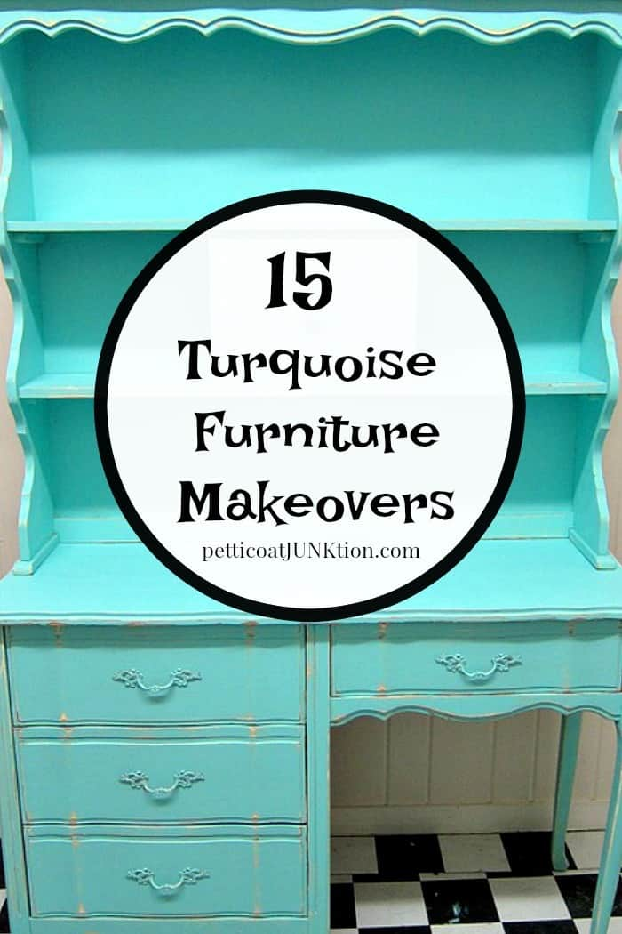 15 Turquoise Furniture Makeovers