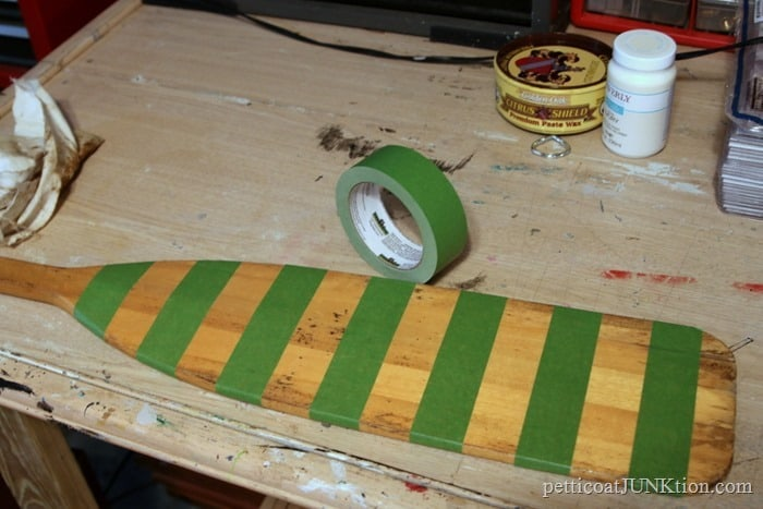 FrogTape striped diy project