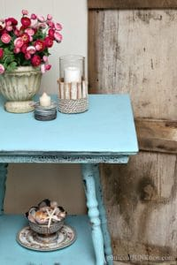 Distress Furniture Using Baby Wipes