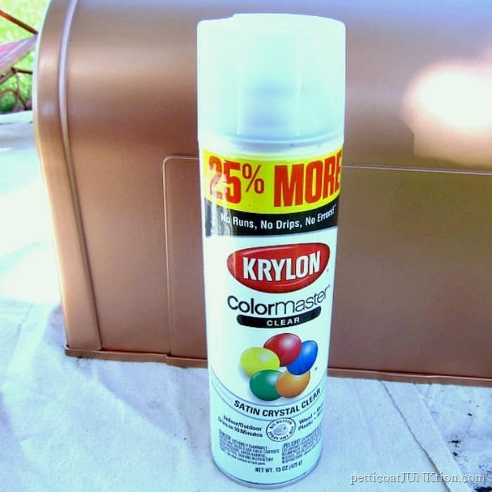 Krylon Clear Sealer for the mailbox paint project