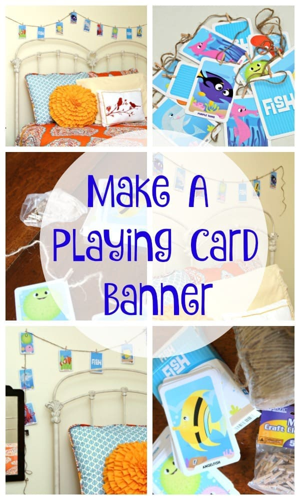 Make A Go Fish Card Banner Garland