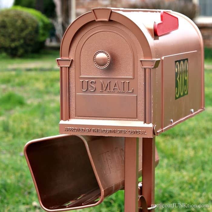 Metallic Copper Mailbox