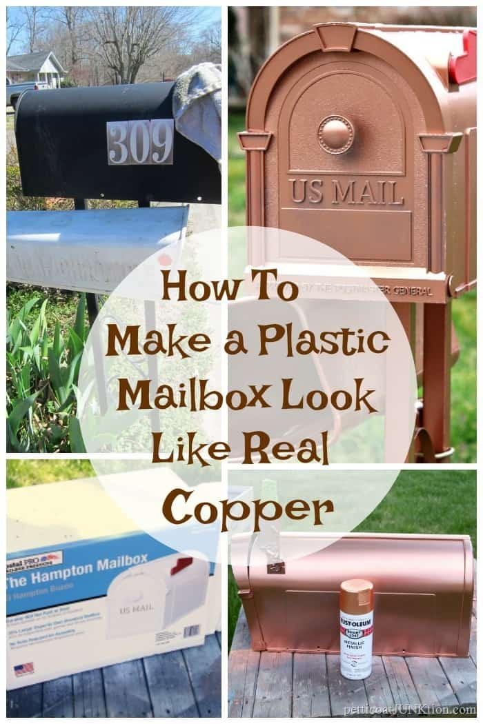 how to make a plastic mailbox look like real copper