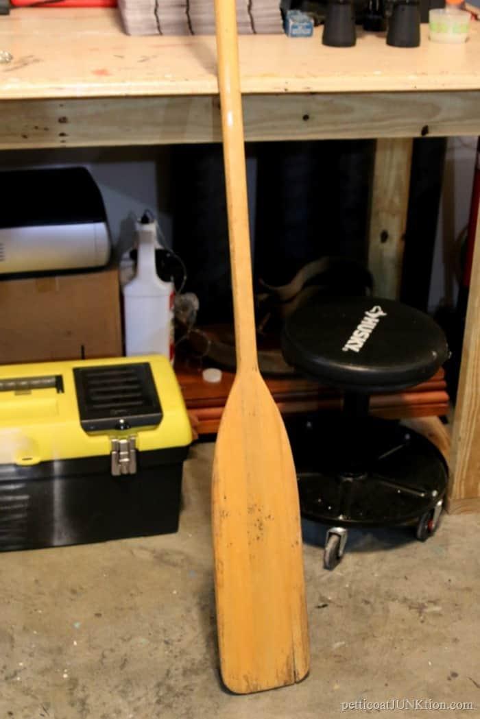 split wood oar from an auction