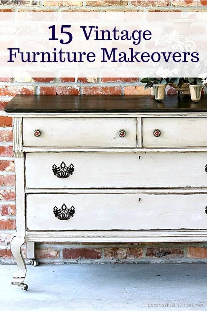 15 Vintage Dresser Makeovers featuring the best furniture projects