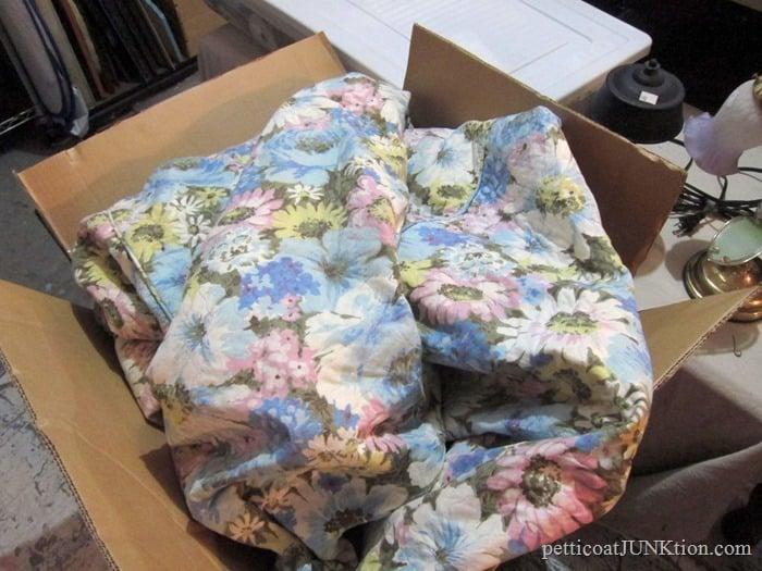 1960 or 1970's floral bedspread