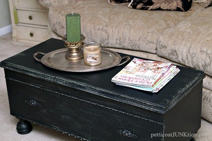 Cedar Chest with Distressed Layered Crackled Paint