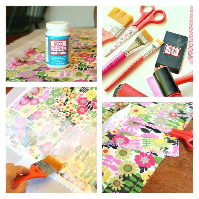 How To Use Fabric Mod Podge To Decoupage Furniture