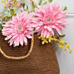 Make A DIY Wreath Using A Straw Purse