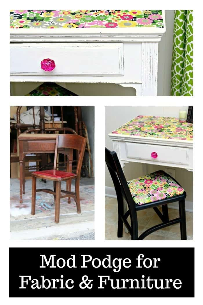 How To Use Mod Podge On Fabric And Furniture Tutorial