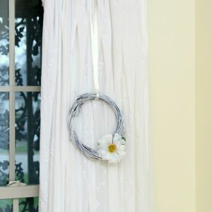 white wreath dollar store craft