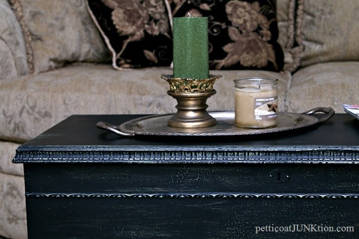 black crackled and distressed paint for furniture
