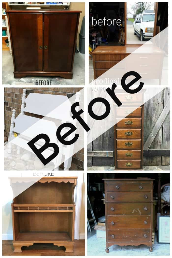 furniture fixer uppers April before makeover photo
