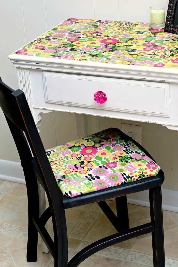 How To Use Mod Podge On Fabric And Furniture Tutorial Petticoat